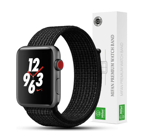 Mifan Official Nylon Loop Band for Apple Watch 40mm/38mm Series 1/2/3/4 Black Platinum - MifanGo.com