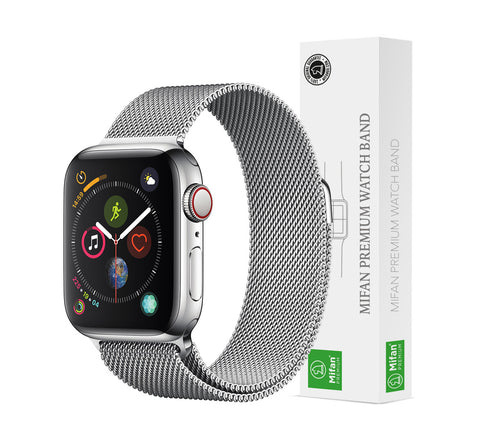 Mifan Official Milanese Loop Band for Apple Watch 40/38mm Series 1/2/3/4/5 Silver - MifanGo.com