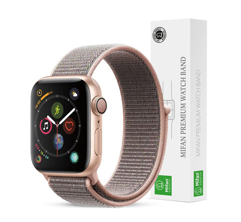 Mifan Official Nylon Loop Band for Apple Watch 40mm/38mm Series 1/2/3/4/5 Pink Sand - MifanGo.com