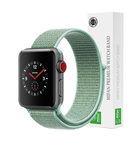 Mifan Official Nylon Loop Band for Apple Watch 40mm/38mm Series 1/2/3/4/5 Marine Green - MifanGo.com