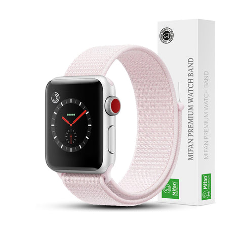 Mifan Official Nylon Loop Band for Apple Watch 40mm/38mm Series 1/2/3/4/5 Pearl - MifanGo.com