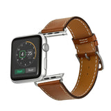 Premium Genuine Leather Band for Apple Watch 40mm/38mm Supreme Brown - MifanGo.com