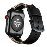 Mifan Genuine Leather Band for Apple Watch 44mm/42mm Rough Black - MifanGo.com