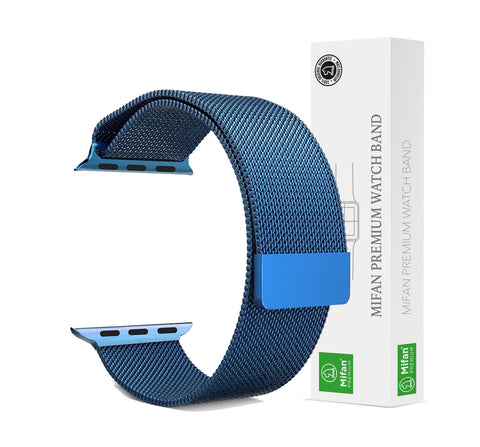 Mifan Official Milanese Loop Band for Apple Watch 40/38mm Series 1/2/3/4/5 Blue - MifanGo.com