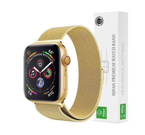 Mifan Official Milanese Loop Band for Apple Watch 40/38mm Series 1/2/3/4/5 Gold - MifanGo.com