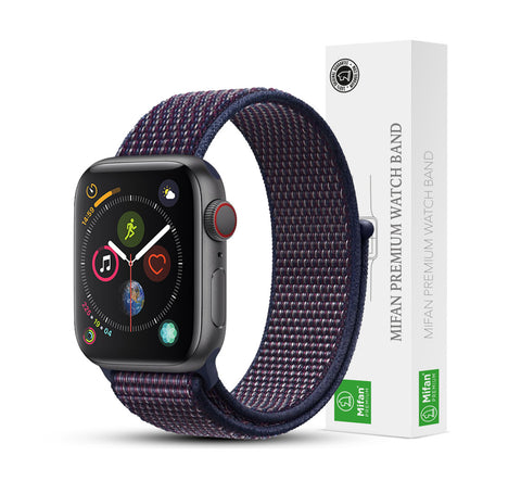 Mifan Official Nylon Loop Band for Apple Watch 40mm/38mm Series 1/2/3/4/5 Indigo Blue - MifanGo.com
