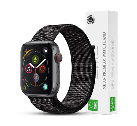Mifan Official Nylon Loop Band for Apple Watch 40mm/38mm Series 1/2/3/4 Black Reflective - MifanGo.com