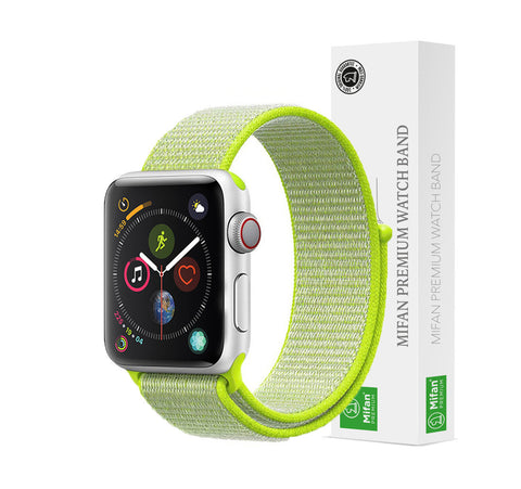 Mifan Official Nylon Loop Band for Apple Watch 40mm/38mm Series 1/2/3/4/5 Green - MifanGo.com