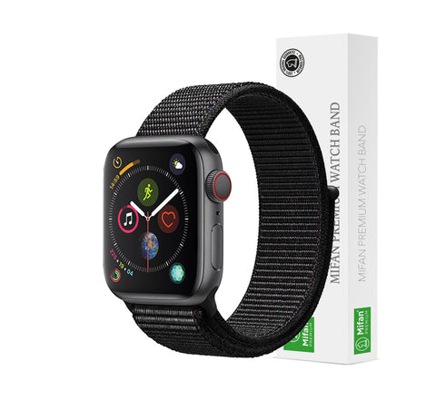Mifan Official Nylon Loop Band for Apple Watch 40mm/38mm Series 1/2/3/4 Black - MifanGo.com