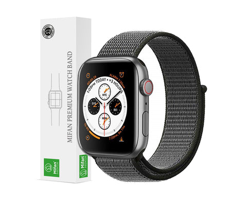 Mifan Official Nylon Loop Band for Apple Watch 44mm/42mm Series 1/2/3/4/5 Dark Olive Grey - MifanGo.com