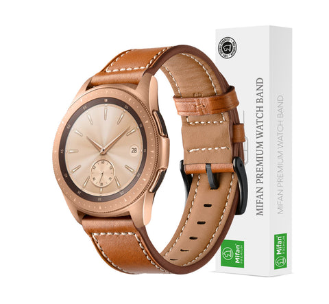 Mifan Genuine Leather Band 20mm Supreme Brown for Samsung/Huawei/Garmin/Fossil - MifanGo.com
