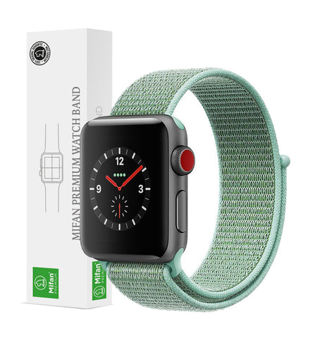 Mifan Official Nylon Loop Band for Apple Watch 44mm/42mm Series 1/2/3/4/5 Marine Green - MifanGo.com