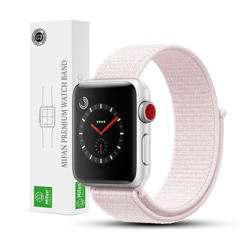 Mifan Official Nylon Loop Band for Apple Watch 44mm/42mm Series 1/2/3/4/5 Pearl - MifanGo.com