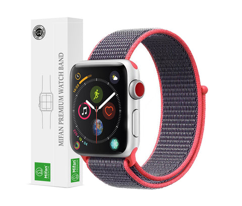 Mifan Official Nylon Loop Band for Apple Watch 44mm/42mm Series 1/2/3/4 Pink Grey - MifanGo.com