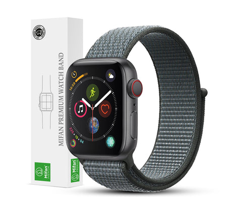 Mifan Official Nylon Loop Band for Apple Watch 44mm/42mm Series 1/2/3/4/5 Storm Grey - MifanGo.com