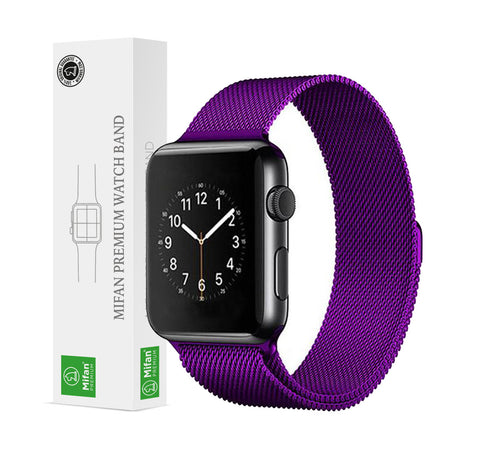 Mifan Official Milanese Loop Band for Apple Watch 44/42mm Series 1/2/3/4/5 Purple - MifanGo.com