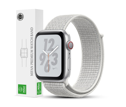 Mifan Official Nylon Loop Band for Apple Watch 44mm/42mm Series 1/2/3/4/5 Summit White - MifanGo.com