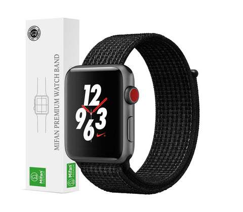 Mifan Official Nylon Loop Band for Apple Watch 44mm/42mm Series 1/2/3/4/5 Black Platinum - MifanGo.com