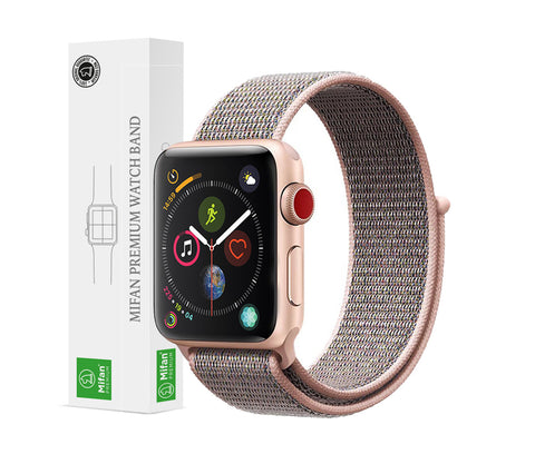 Mifan Official Nylon Loop Band for Apple Watch 44mm/42mm Series 1/2/3/4 Pink Sand - MifanGo.com