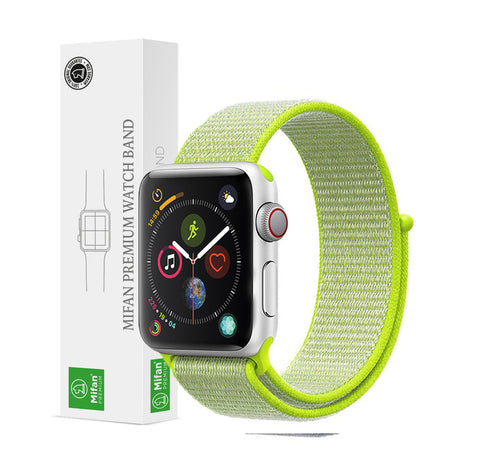 Mifan Official Nylon Loop Band for Apple Watch 44mm/42mm Series 1/2/3/4 Green - MifanGo.com