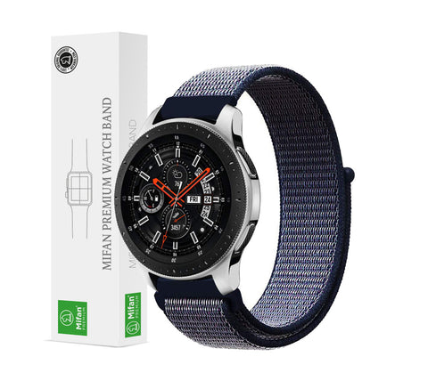 Mifan Nylon Loop Band 22mm Width Midnight Blue for Samsung/Huawei Garmin/Fossil - MifanGo.com
