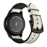Mifan Hybrid Silicone Genuine Leather Band 22mm White for Samsung/Huawei/Garmin/Fossil - MifanGo.com