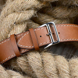Premium Genuine Leather Band for Apple Watch 44mm/42mm Supreme Brown - MifanGo.com