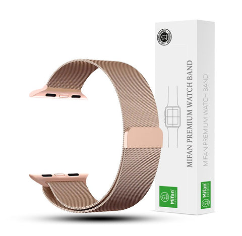 Mifan Official Milanese Loop Band for Apple Watch 40/38mm Series 1/2/3/4 Rose Gold - MifanGo.com