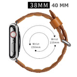 Mifan Official Genuine Leather Band for Apple Watch 40mm/38mm Wave Brown - MifanGo.com