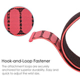 Mifan Nylon Loop Band 20mm Width Black Red for Samsung/Huawei Garmin/Fossil - MifanGo.com