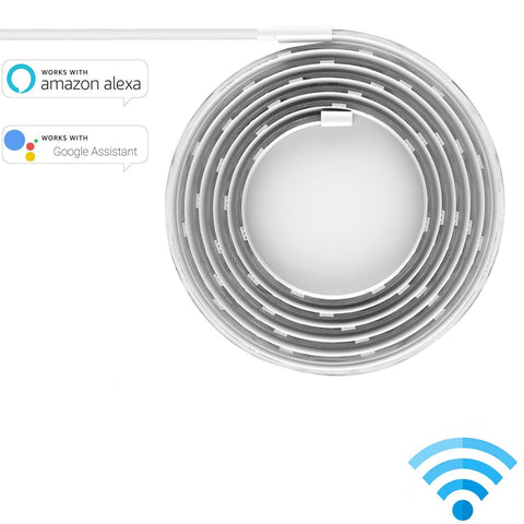 Smart LED Strip Remote App WIFI Control Multi Color 500cm Free Cutting for Alexa Google - MifanGo.com