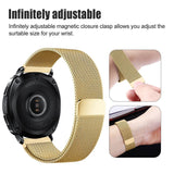 Mifan Milanese Loop Band 20mm Width Gold for Samsung/Huawei/Garmin/Fossil - MifanGo.com