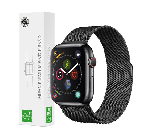 Mifan Official Milanese Loop Band for Apple Watch 44/42mm Series 1/2/3/4/5 Black - MifanGo.com