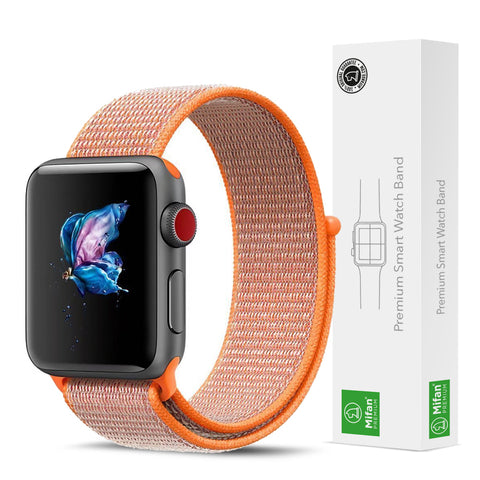 Mifan Official Nylon Loop Band for Apple Watch 40mm/38mm Series 1/2/3/4 Orange - MifanGo.com