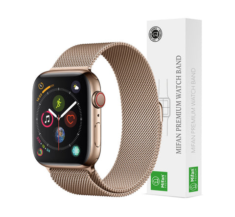 Mifan Official Milanese Loop Band for Apple Watch 40/38mm Series 1/2/3/4/5 Light Gold - MifanGo.com