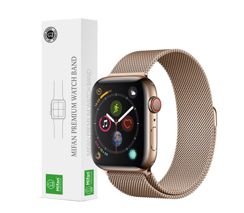 Mifan Official Milanese Loop Band for Apple Watch 44/42mm Series 1/2/3/4/5 Light Gold - MifanGo.com