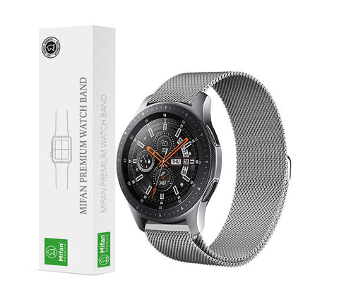 Mifan Milanese Loop Band 22mm Width Silver for Samsung/Huawei/Garmin/Fossil - MifanGo.com