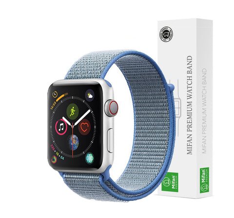 Mifan Official Nylon Loop Band for Apple Watch 40mm/38mm Series 1/2/3/4 Lake Blue - MifanGo.com