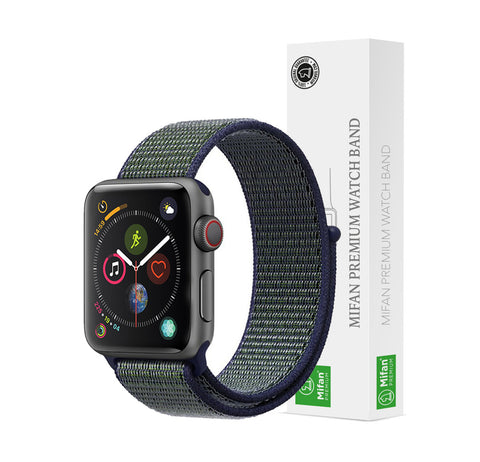 Mifan Official Nylon Loop Band for Apple Watch 40mm/38mm Series 1/2/3/4/5 Midnight Fog - MifanGo.com