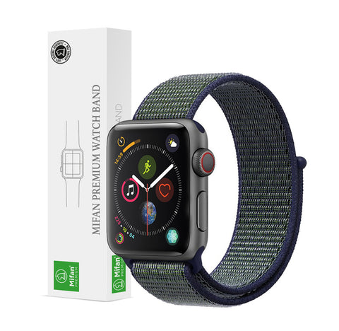 Mifan Official Nylon Loop Band for Apple Watch 44mm/42mm Series 1/2/3/4/5 Midnight Fog - MifanGo.com