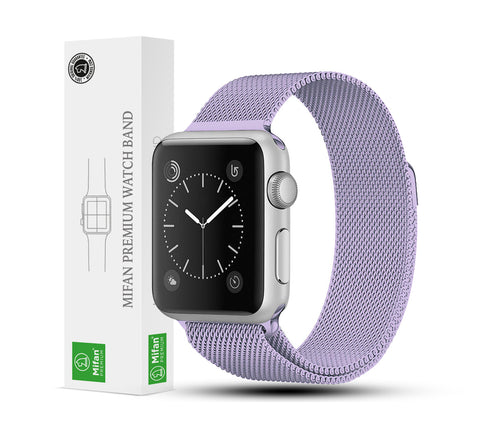 Mifan Official Milanese Loop Band for Apple Watch 44/42mm Series 1/2/3/4/5 Light Purple - MifanGo.com