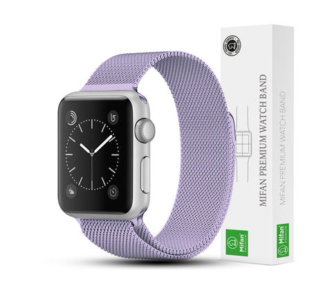Mifan Official Milanese Loop Band for Apple Watch 40/38mm Series 1/2/3/4/5 Light Purple - MifanGo.com
