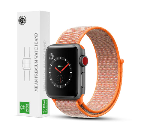 Mifan Official Nylon Loop Band for Apple Watch 44mm/42mm Series 1/2/3/4  Orange - MifanGo.com