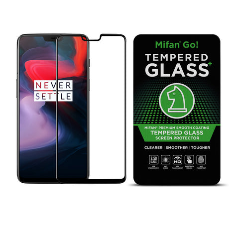 Original OnePlus 5/6 Full Coverage 3D Tempered Glass Curved Screen Protector Black