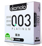 Okamoto Japan Imported Platinum 0.03mm Ultra Fine Thin Condom - MifanGo.com