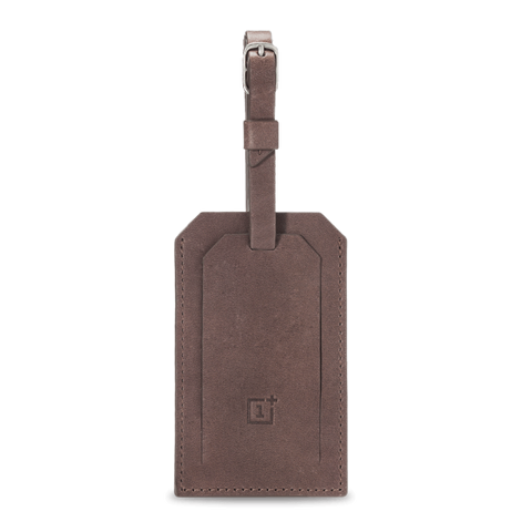 Original OnePlus Genuine Leather Luggage Tags Brown - MifanGo.com