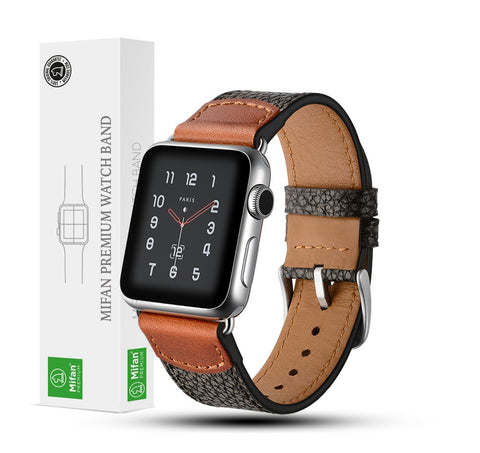 Mifan Genuine Leather Band for Apple Watch 44mm/42mm Rock Grey - MifanGo.com