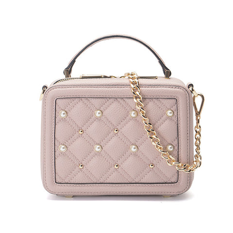 Mifan Premium Customized Genuine Leather Crossbody Shoulder Bag Pink Pearl - MifanGo.com
