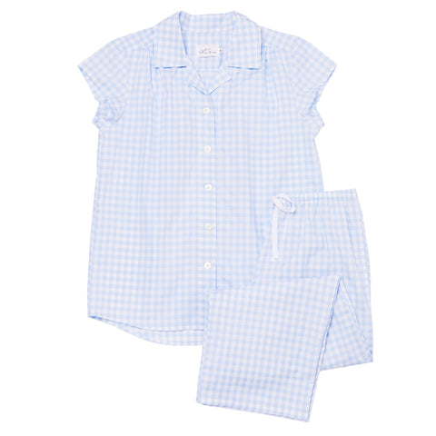Gingham Luxe Pima Cotton Capri