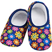 Women's  Skinnies® Snoozies!® Slippers - Daisies With Matching Travel Pouch